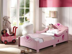 Lit enfant princesse rose 70x140