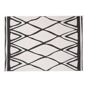 Miliboo Tapis réversible intérieur extérieur blanc et noir 160 x 230 cm ROCCA