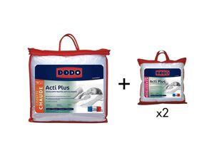 DODO Pack DODO anti allergies couette 220 x 240 cm + 2 oreillers 65 x 65 cm - ACTI PLUS II