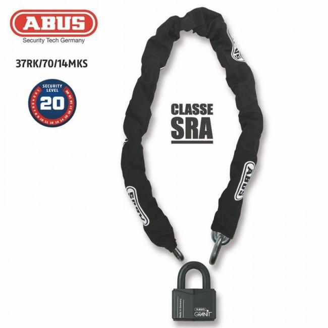 ABUS Antivol U + chaine ABUS 37RK/70+14MKS180 SRA