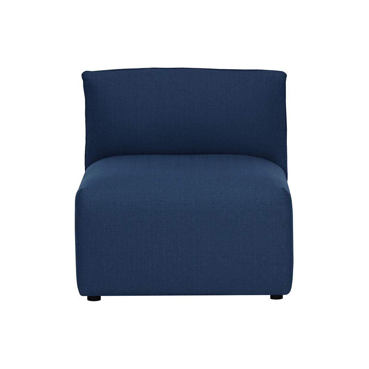 Miliboo Chauffeuse design tissu bleu foncé MODULO