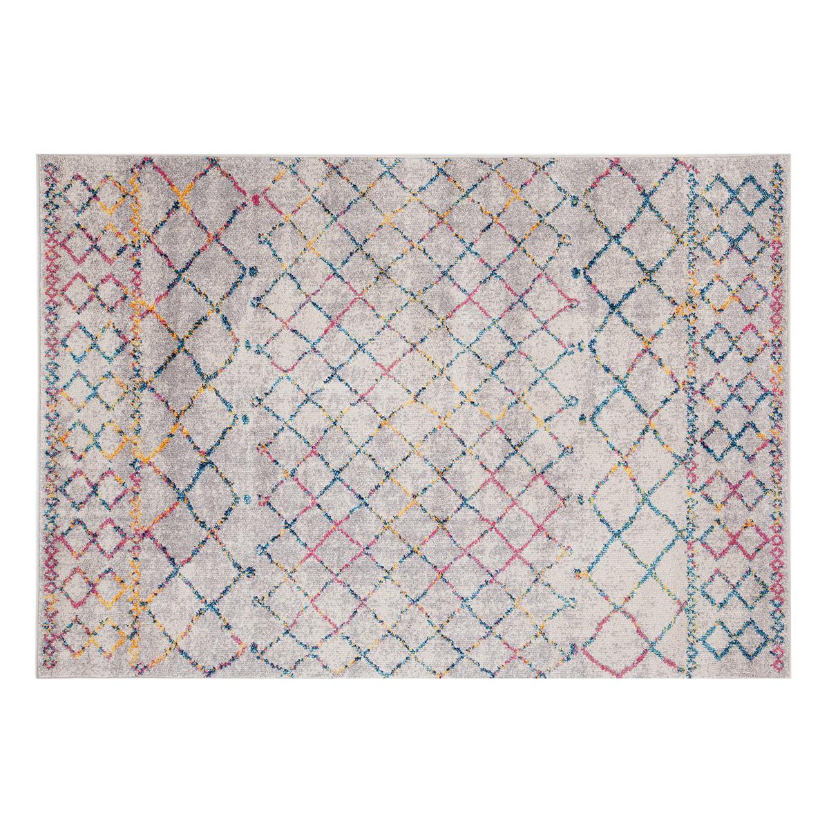 Miliboo Tapis style berbère gris et multicolore 200 x 300 cm CIELO