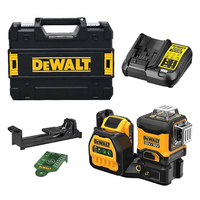 DEWALT Niveau laser multi-lignes DEWALT DCE089D1G18-QW 3 x 360° XR 12V / 18V (1 x 2,0 Ah)